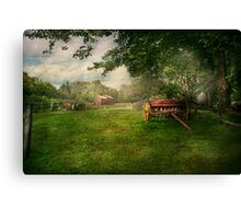 Country - The crops almost ready  Canvas Print