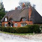 Cottage with Aged Painted Effect by hootonles