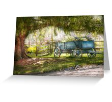 Country - The old wagon out back  Greeting Card