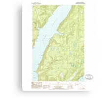 USGS Topo Map Washington State WA Lilliwaup 242005 1985 24000 Canvas Print
