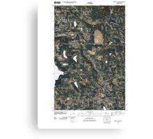 USGS Topo Map Washington State WA Maple Valley 20110422 TM Canvas Print