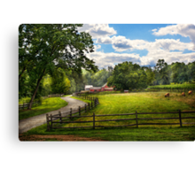Country - The pasture  Canvas Print