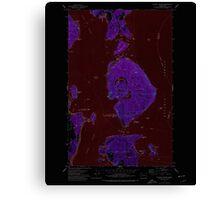 USGS Topo Map Washington State WA Blakely Island 240101 1973 24000 Inverted Canvas Print