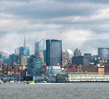 City - Skyline - Hoboken, NJ - The ever changing skyline by Mike  Savad