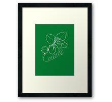 Minty Fresh Sensation, White version Framed Print