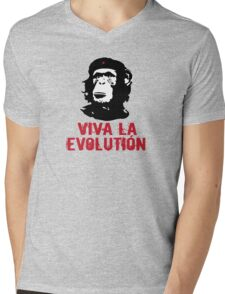 viva la evolution Mens V-Neck T-Shirt