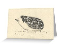 Monochrome Hedgehog Greeting Card