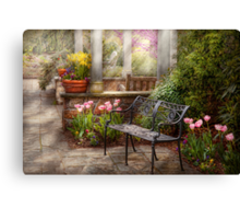 Spring - Bench - A place to retire  Canvas Print