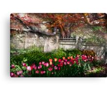 Spring - Gate - My Spring garden  Canvas Print