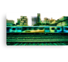 The 16:17 Rush - Melbourne Style Canvas Print