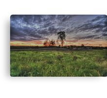 Approaching Storm At Sunset  - The Silverdale Collection Canvas Print