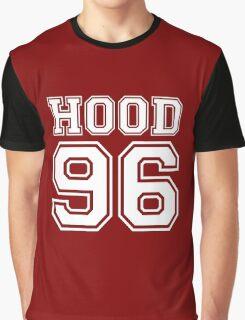 HOOD 96 Calum Hood White Graphic T-Shirt