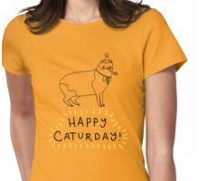 Happy Caturday - Manx Womens Fitted T-Shirt