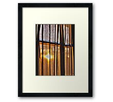 Looking through my Window Framed Print