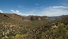 Canyon Lake Arizona Panorama  by John  Kapusta
