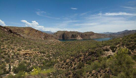 Canyon Lake Arizona Panorama  by John  Kapusta