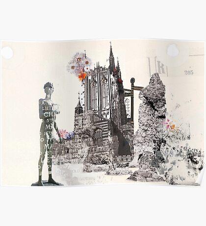 Abbey Gardens Illustration - Bury St Edmunds Poster