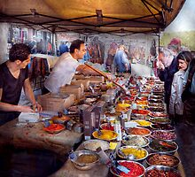 Storefront - The open air Tea & Spice market  by Mike  Savad
