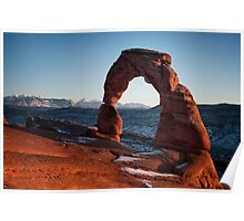 Sunset over Delicate Arch Poster