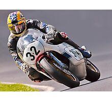 Classic motorbike racing. Bike 32. Photographic Print