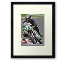 Vintage motorbike racing Bike42 Framed Print