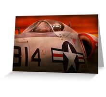 Plane - Pilot - Airforce - Go get em Tiger  Greeting Card