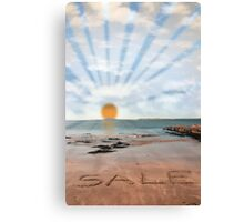 sunny sale Canvas Print