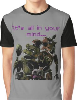 FNAF 3 Phantom animatronics Graphic T-Shirt