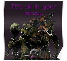 FNAF 3 Phantom animatronics Poster