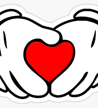 Love fingers Sticker