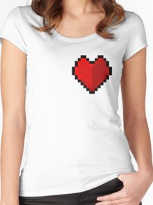 Pixel heart - I love retro Women's Fitted Scoop T-Shirt