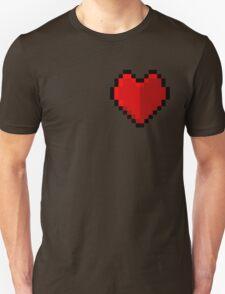 Pixel heart - I love retro Unisex T-Shirt