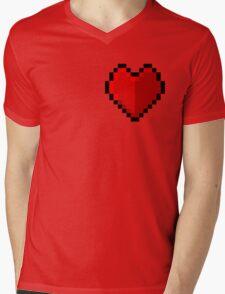 Pixel heart - I love retro Mens V-Neck T-Shirt