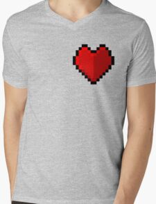 Pixel heart - I love retro Mens V-Neck T-Shirt