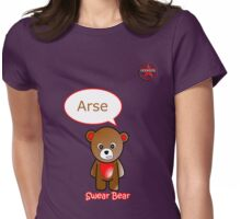 GeekGirl - Brown SwearBear Womens Fitted T-Shirt