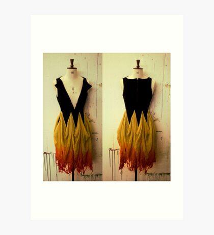 Girl on Fire 2 Art Print