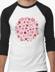 Summer Flowers Men's Baseball ¾ T-Shirt