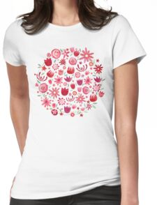 Summer Flowers Womens Fitted T-Shirt