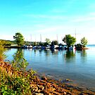 Boats at lake Starnberg by ©The Creative  Minds