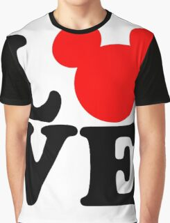 Love text silhouette Graphic T-Shirt