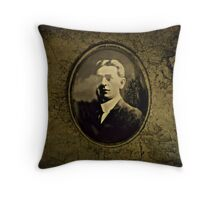 His face adorned the stone Throw Pillow