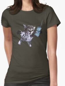 Funny grunge cat. Music band  T-Shirt