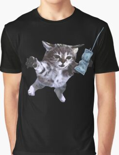 Funny grunge cat Graphic T-Shirt