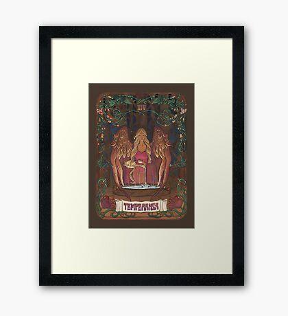 La Temperanza (Temperance, tarot card) Framed Print