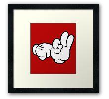 Funny Fingers. Framed Print