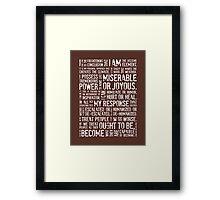 Decisive Element •Russet Framed Print