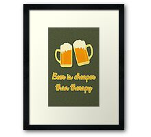Beer Therapy Framed Print