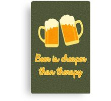 Beer Therapy Canvas Print