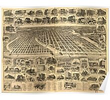 Panoramic Maps Asbury Park Ocean Grove and vicinity New Jersey 1897 Poster