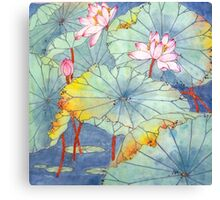 Lotus Glamour Canvas Print